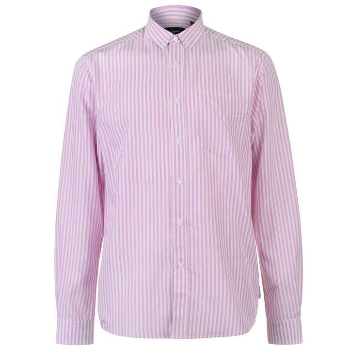 37bd1f6686 Pierre Cardin Bold férfi hosszú ujjú ing, rózsaszín-fehér csíkos (L méret)